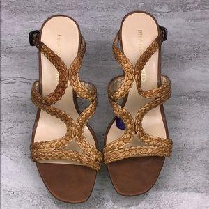 🌵FRANCO SARTO Brown Wedge Sandals